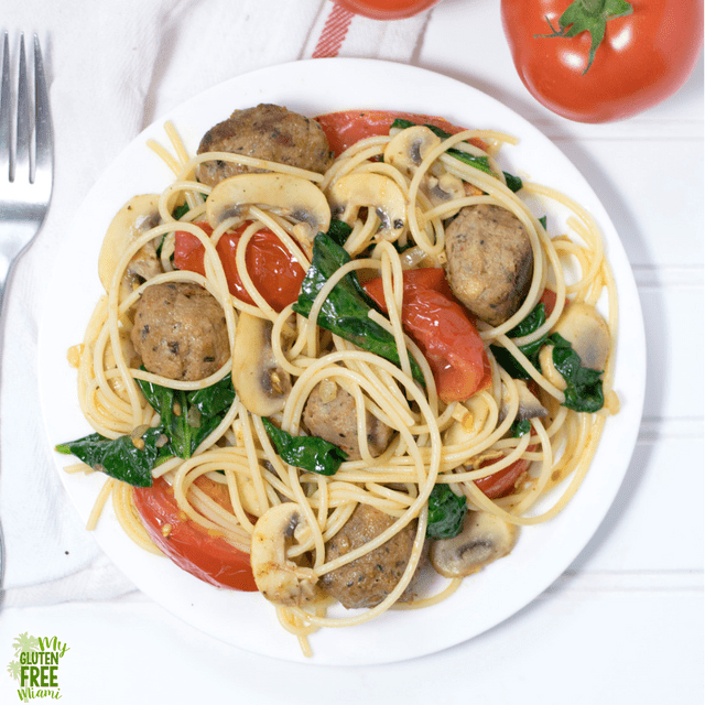 Easy veggie packed gluten free pasta