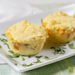 gluten free chicken pot pie muffins