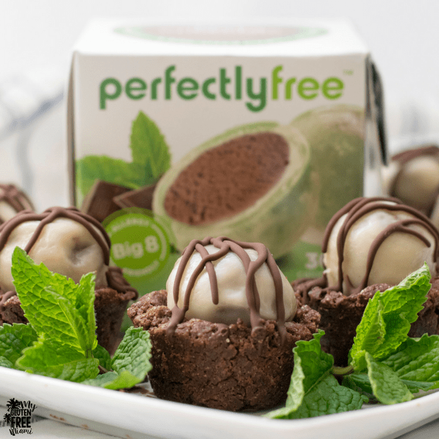 Gluten Free Brownie Bites with Perfectly Free Package