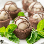 Gluten Free Brownie Cups on a tray