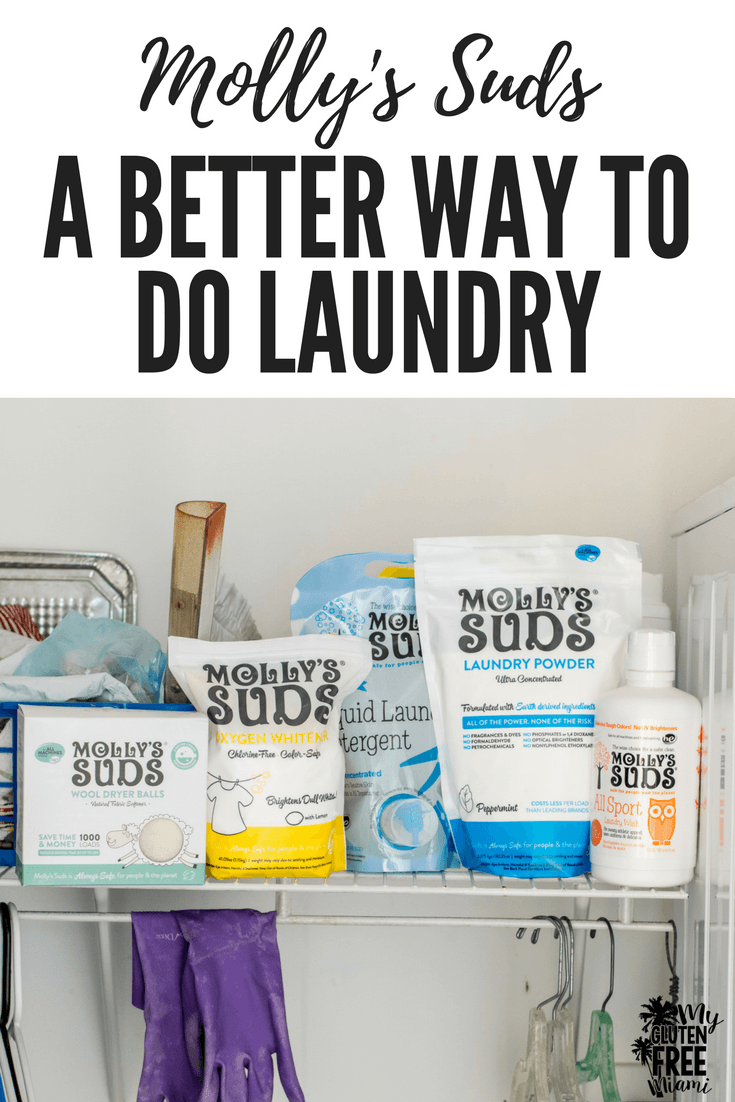 Molly's Suds Laundry Detergent in Laundry Room