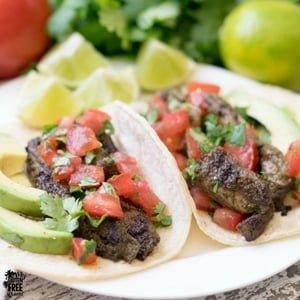 gluten free budget friendly steak tacos