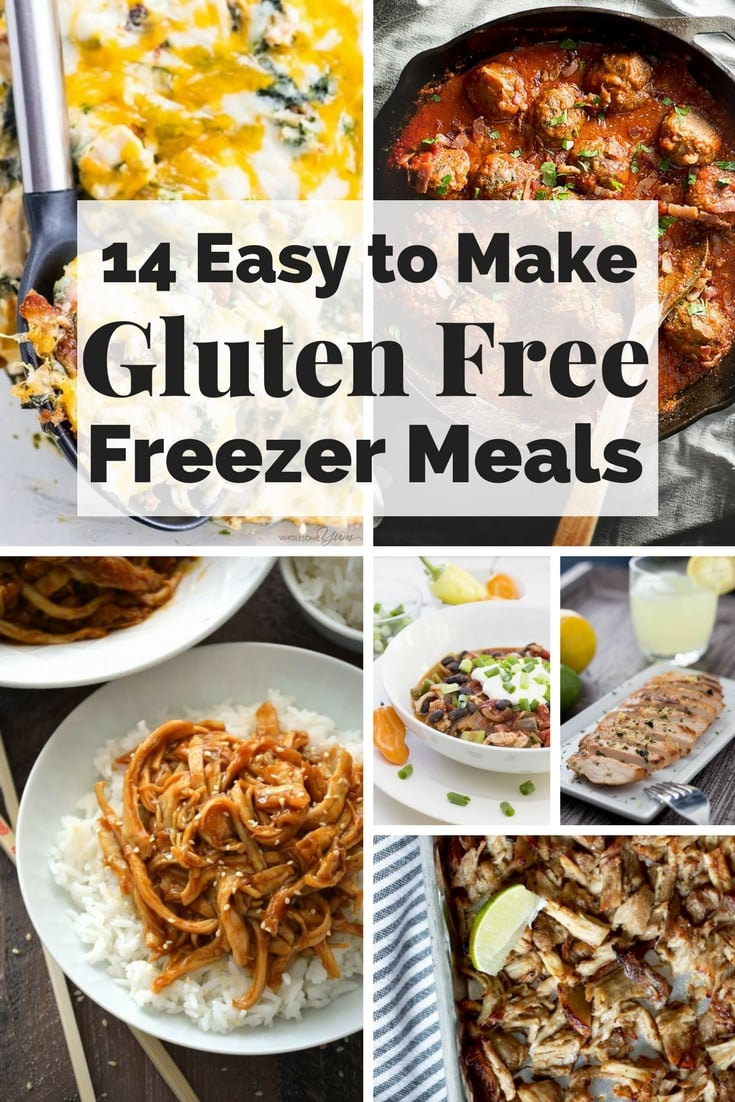 There's not much better in life than Gluten Free Meals, except for Gluten Free FREEZER meals that are so easy to make.  Great to make ahead for new moms or just to reach into your freezer and throw into your crock pot, instant pot, or oven- healthy options for families on the go- no need to stop at a drive thru now! There's even some Paleo and AIP freezer meal options as well. #GlutenFreeFreezerMeals #GlutenFreeMealsforNewMoms #FreezerMealRecipes #Makeaheadmeals