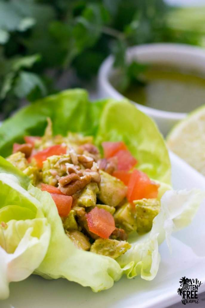 Cilantro Lime Chicken Salad lettuce cups