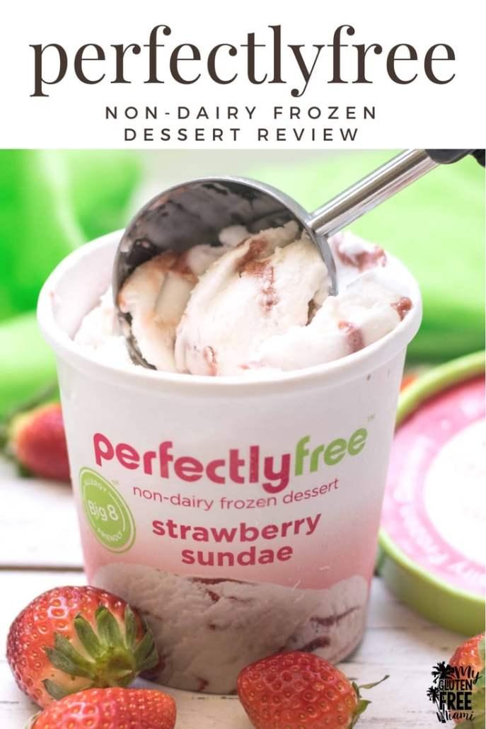 perfectlyfree strawberry sundae ice cream with scoop