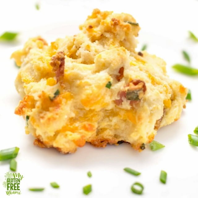 single bacon cheddar chive biscuits