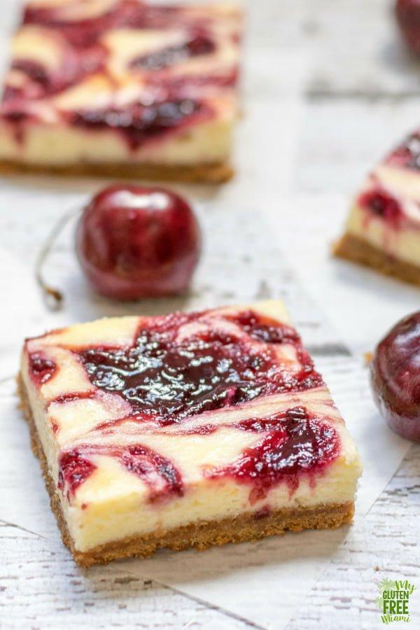 Gluten Free Cherry Cheesecake Bars