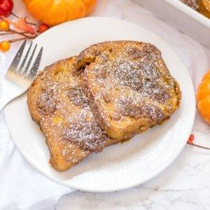 Pumpkin Spice French Toast Casserole