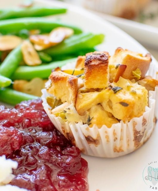 up close gluten free stuffing cup