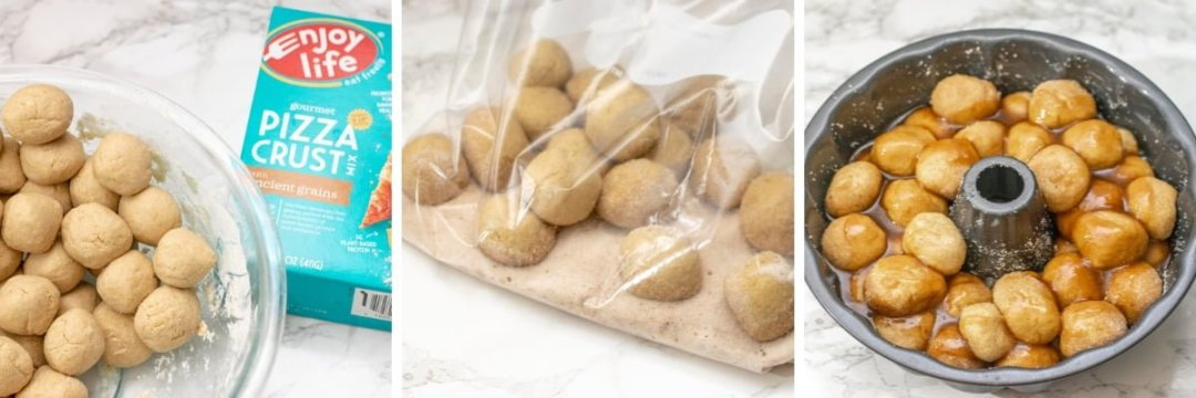 steps for vegan gluten free monkey bread