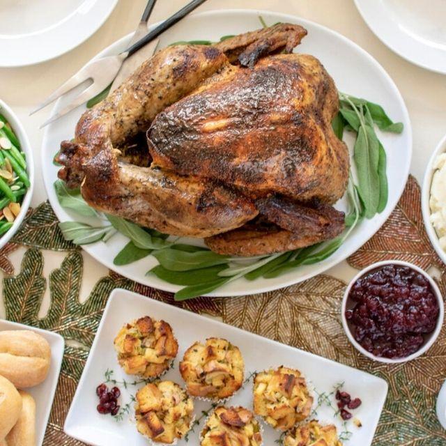 overhead shot of turkey