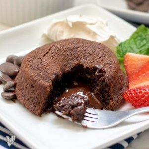 Gluten and Dairy Free Molten Chocolate Cake for Two