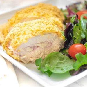 Gluten Free Cheesy Chicken Cordon Bleu