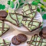 Gluten Free No Bake Grasshopper Cookie Bars