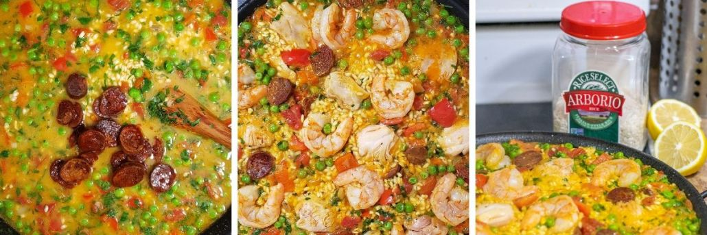 Steps 10-12 of Gluten Free Paella Mixta