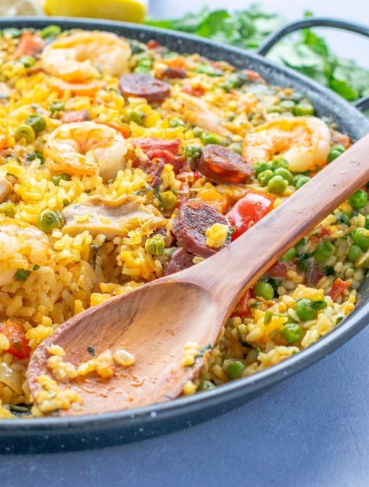 Gluten Free Paella in a pan