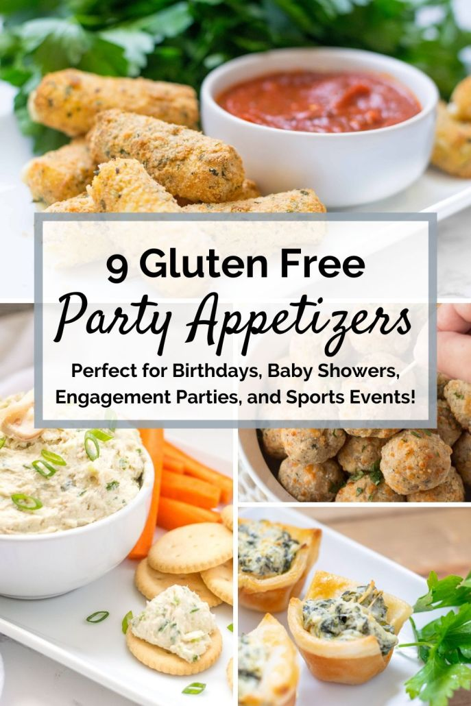 gluten free party appetizer roundup pin