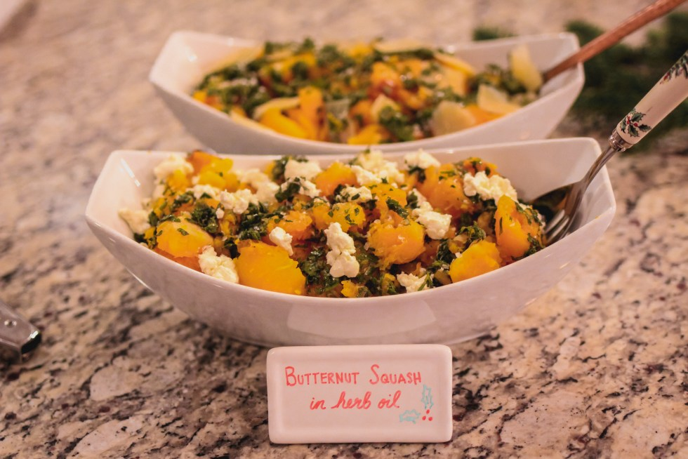 Roasted Butternut Squash in Herb Oil and Goat Cheese