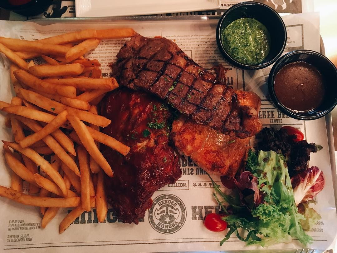 giant meat platters - hungry heroes
