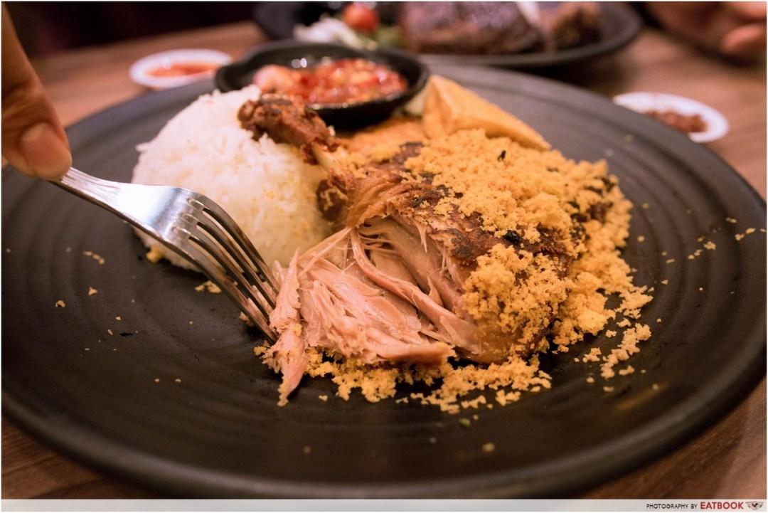 Bebek Goreng Pak Ndut - Sangan Duck Rice