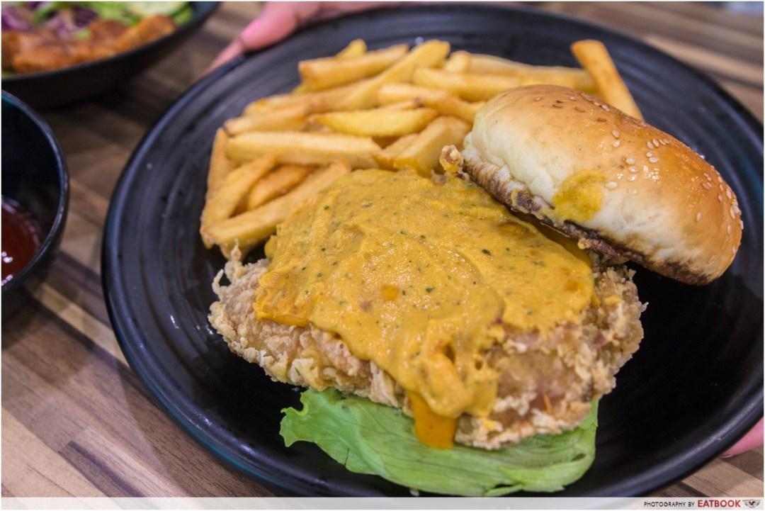 Foodsmith - Salted Egg Chicken Burger