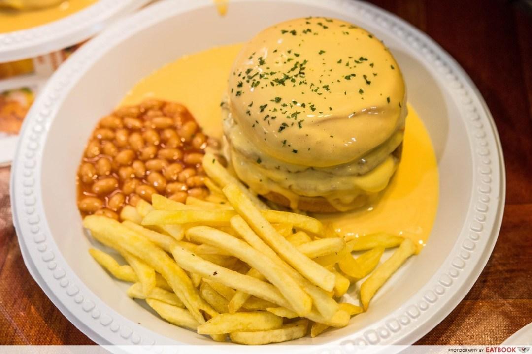 Nadim's delights - burger banjir