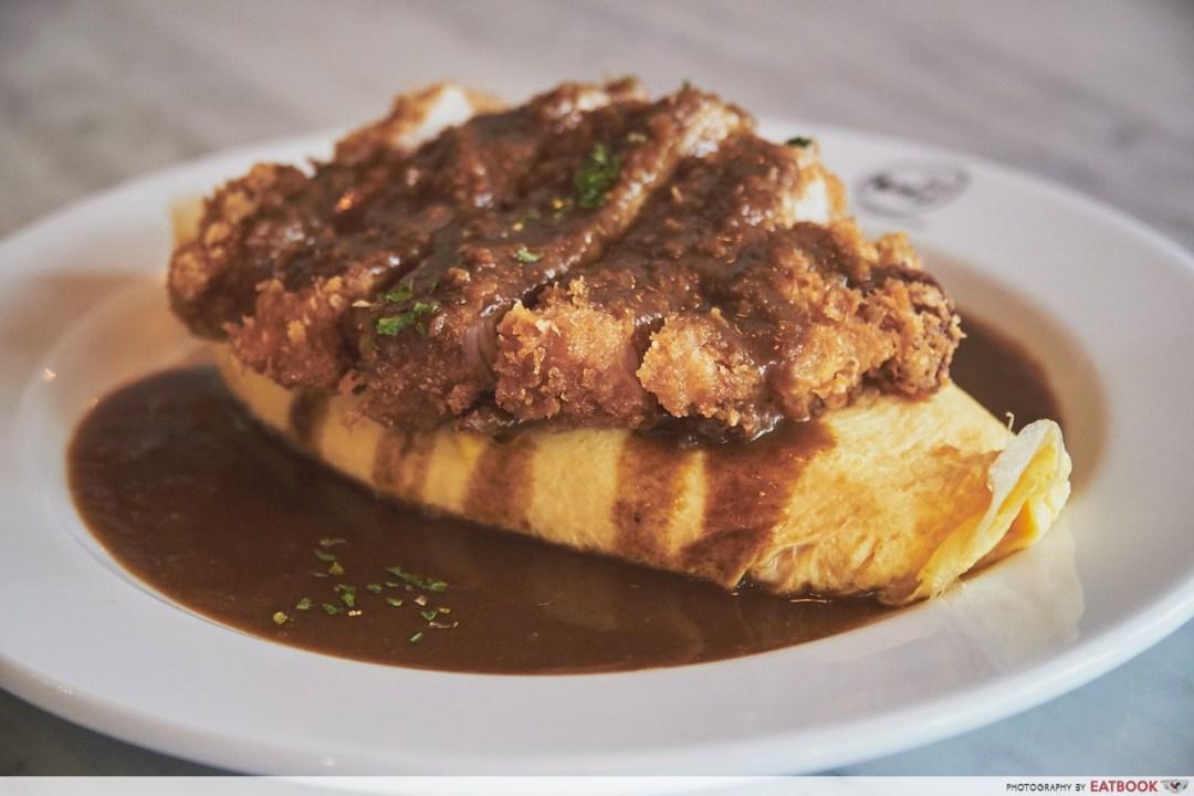 Omu - Curry Sauce Omurice with Pork Cutlet