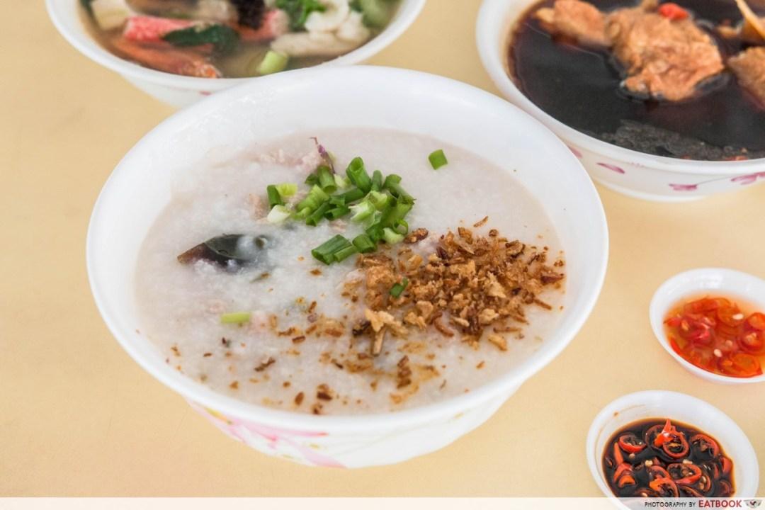 Xian Jin Mixed Vegetable Rice - Century Egg Minced Meat Porridge