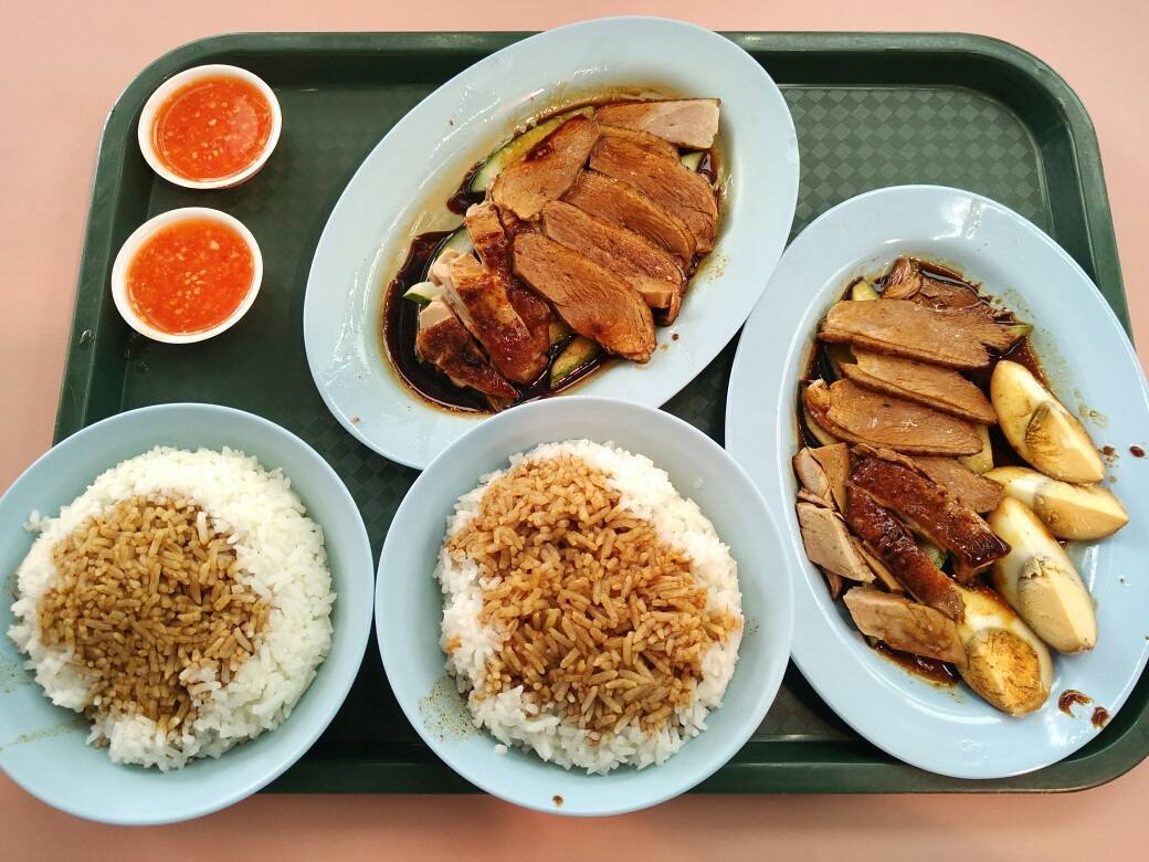 braised duck rice- new market teochew braised duck