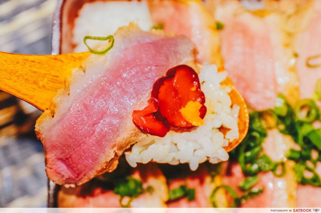 Duck Ramen Rice Dish