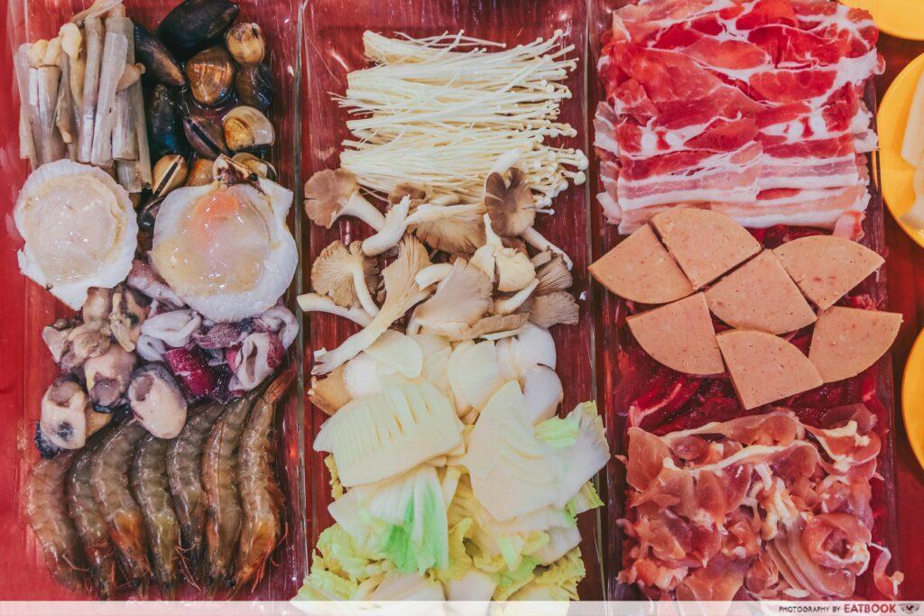 yi qian ling yi ye steamboat buffet - ingredients