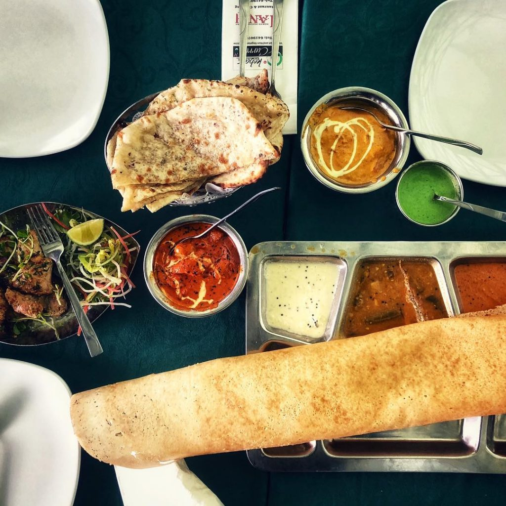 Little india food kebab and curries