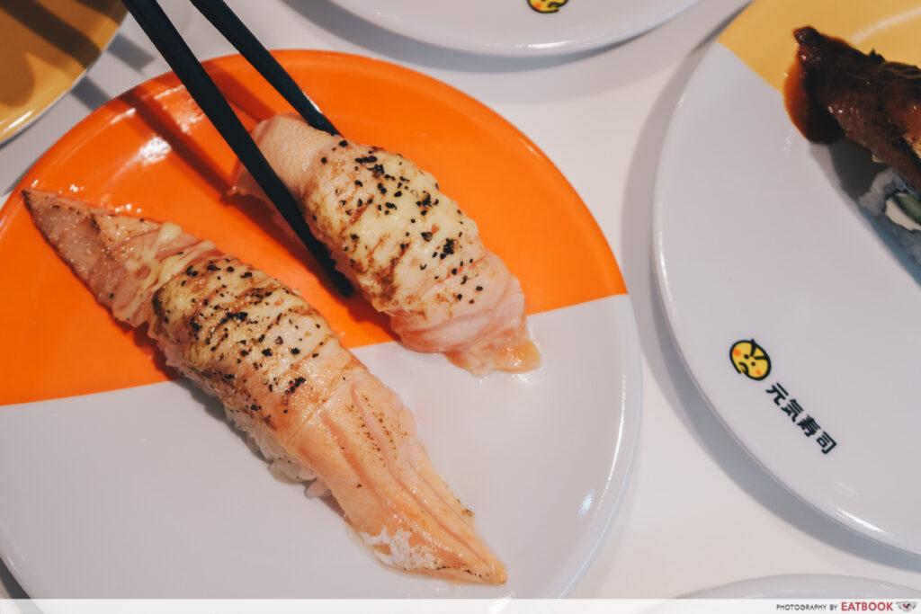 Genki Sushi Bishan DMZ Seared Salmon Belly with Black Pepper