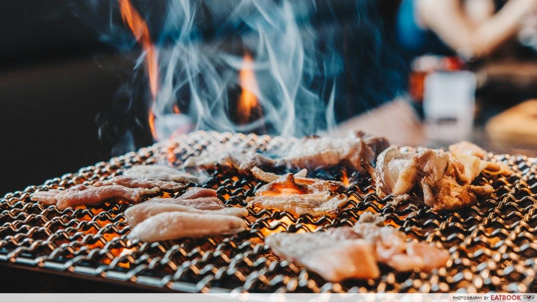 Yakiniku Ohji - Charcoal Grill Close Up