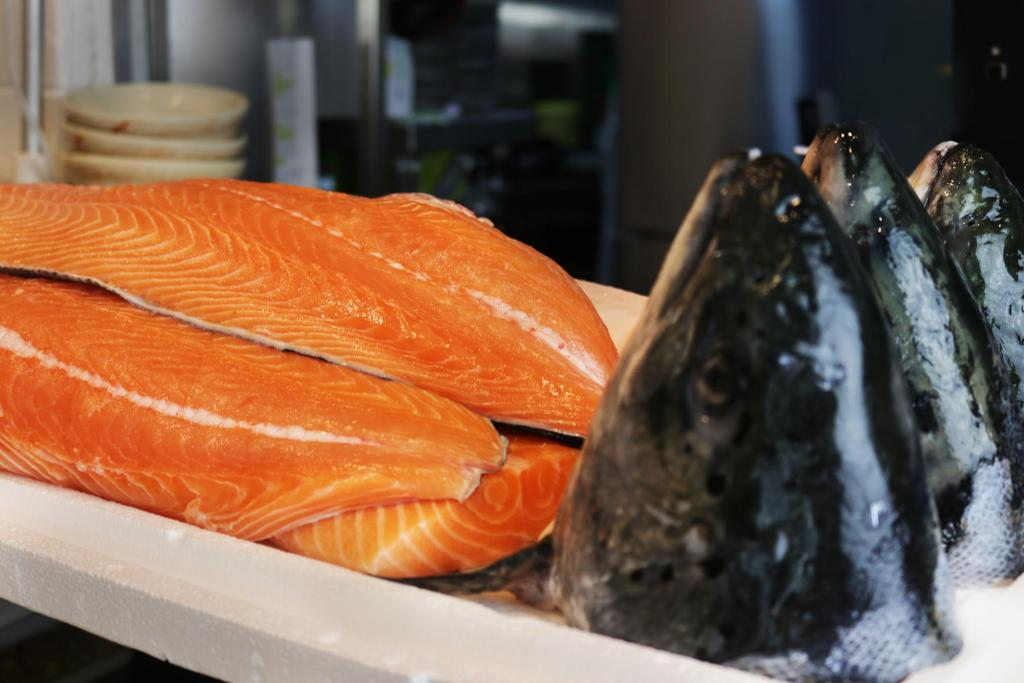 $1 Salmon Sashimi One Sushi