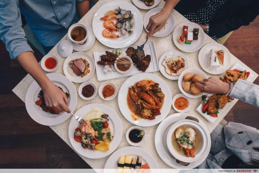 Crab buffet - flatlay