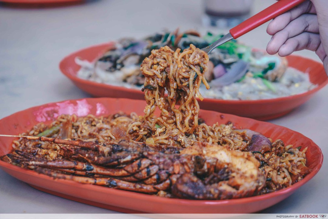 Jom Makan BBQ Seafood - Close Up Maggi Goreng