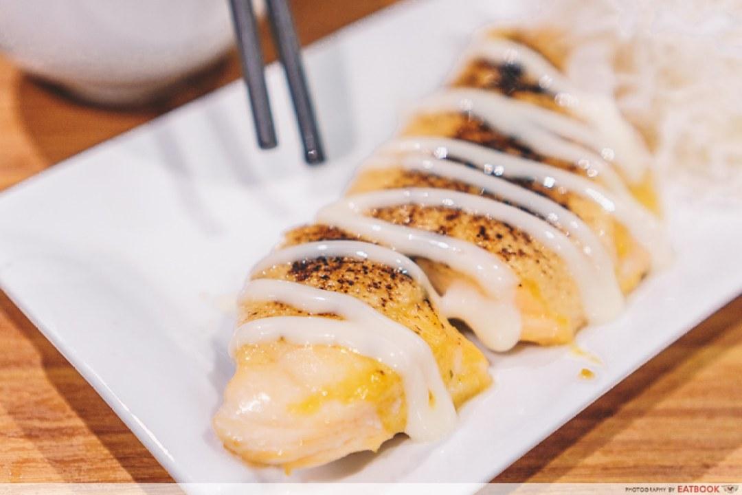 10 New Restaurants March - Four Seas Fish Grill Salmon Mentaiko