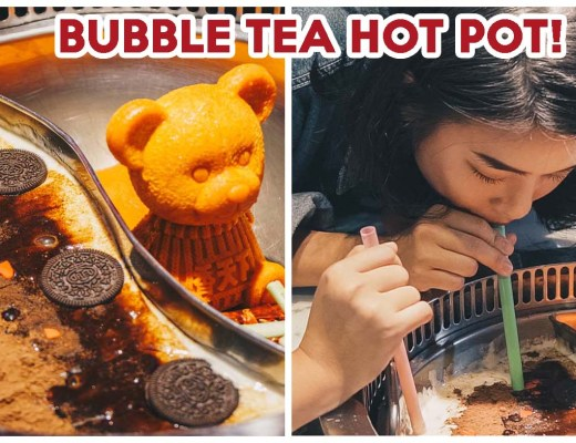 Bubble tea hot pot