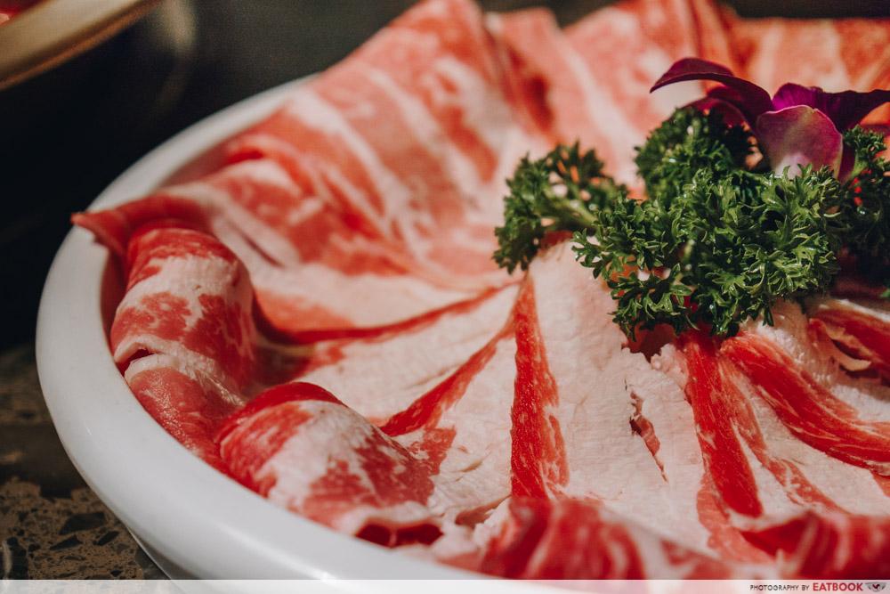 Ma La Restaurants in Town Da Miao Hot pot beef strips