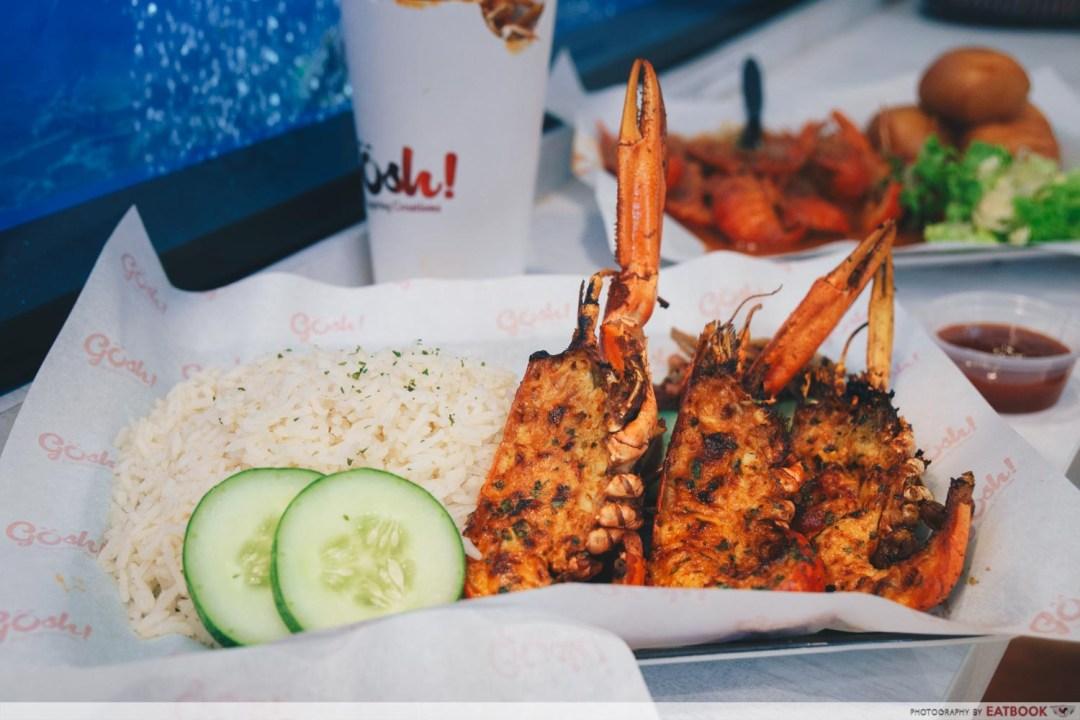 gosh! inspiring creations mini lobster nasi lemak