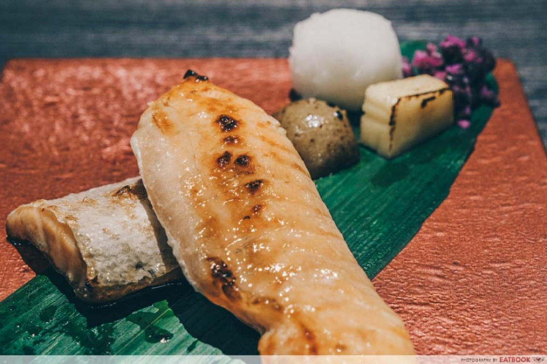10 New Restuarants April - Keisuke Charcoal grilled salmon belly