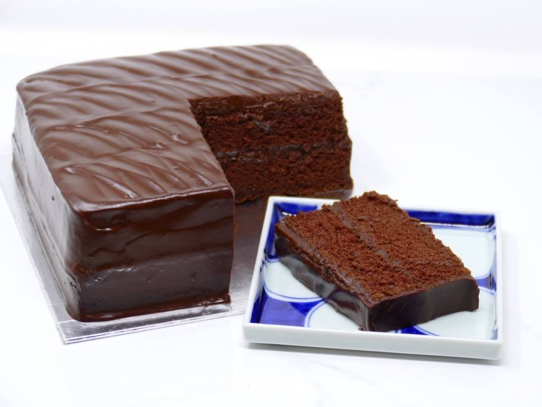 Lana Cake Shop- sliced Chocolate Fudge cake