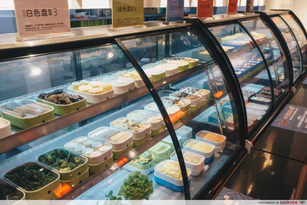Xiao Mu Deng Traditional Hotpot - Vegetable display