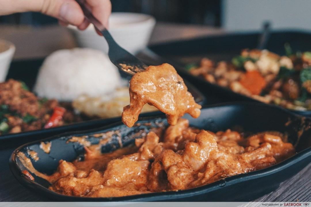 baan khun nai dry curry chicken chicken