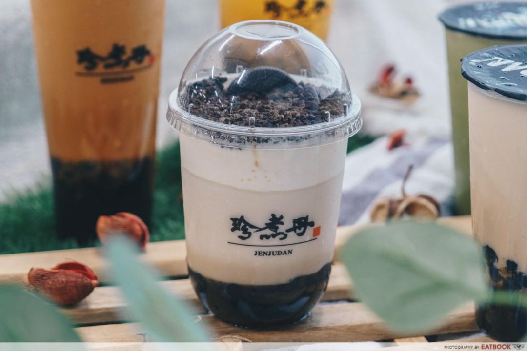 jenjudan bubble milk with oreo