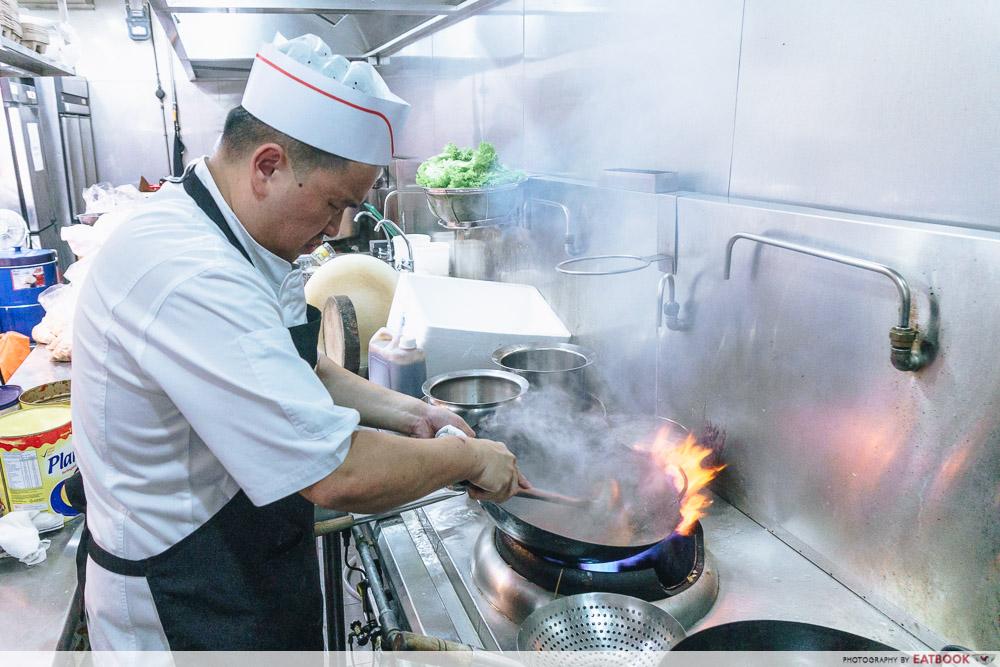 wok in burger action
