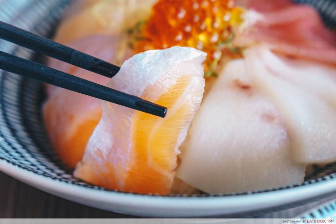 Kazoku - Salmon Sashimi Closeup