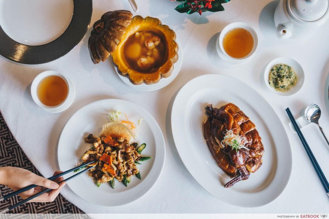 Maybank Michelin Chinese Restaurants Summer Palace flatlay
