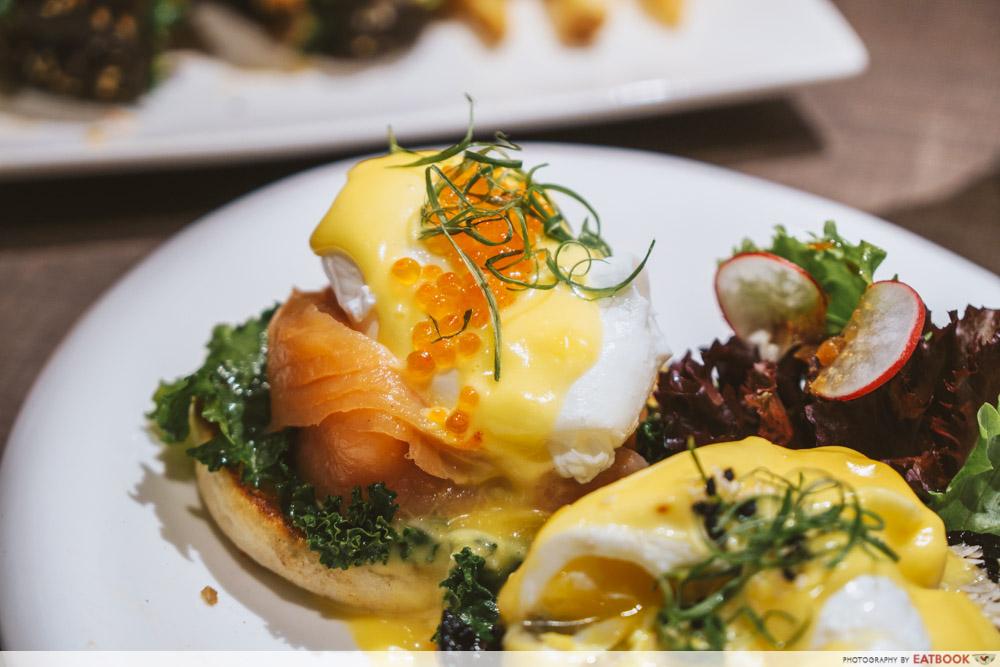 TCC eggs benedict two ways smoked salmon